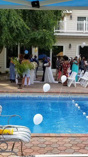 Amazing Pool Side Wedding