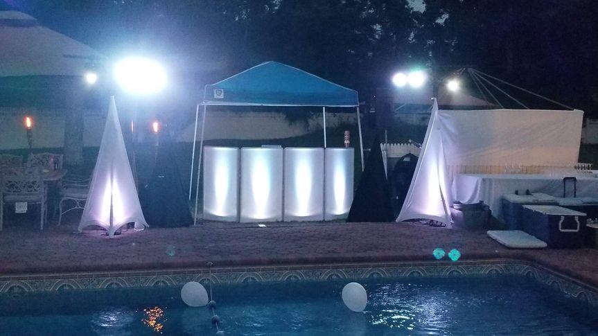 Pool side Wedding Setup
