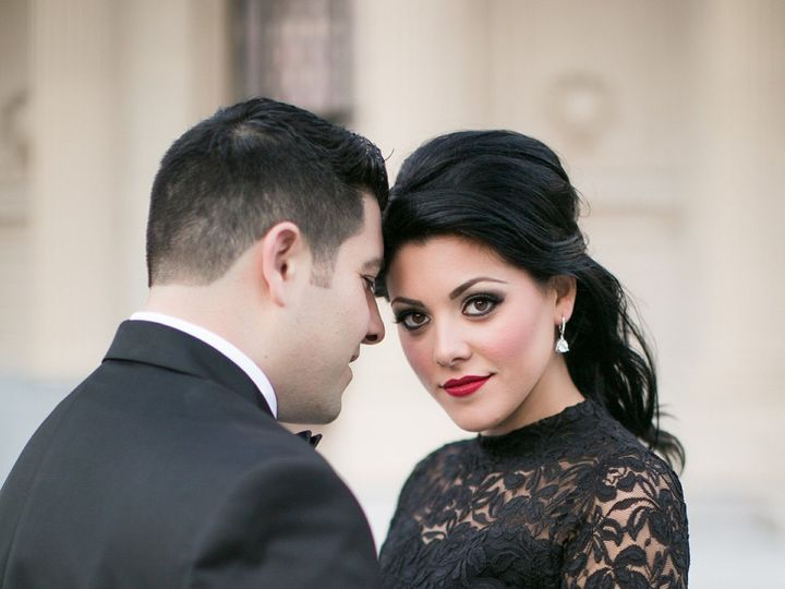 Tmx 1418768520557 Lauren Francesco With Groom Looking At Camera Southington, Connecticut wedding beauty