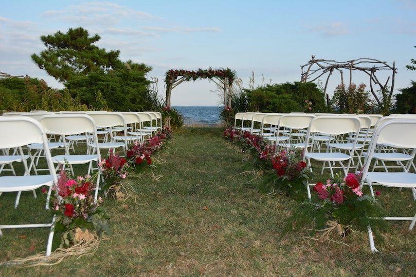 Wedding ceremony area set-up