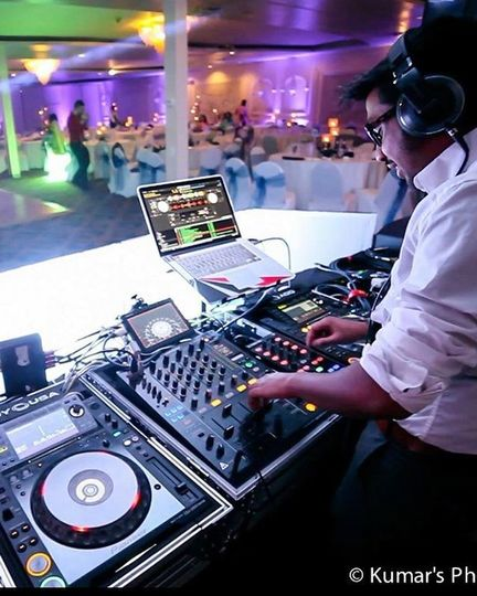 DJ setup and dance floor
