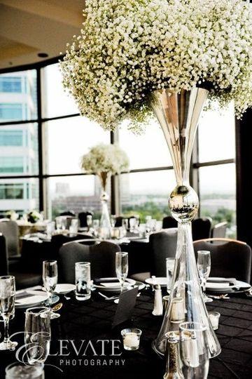 Black & White Wedding Reception @ Hyatt Regency DTC