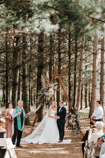 Wedding ceremony - Gordon Bubolz Nature Preserve