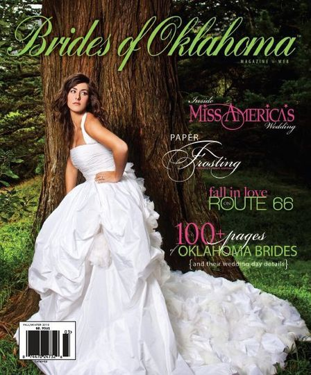 makeup and hair by Sharon for Brides of Oklahoma cover