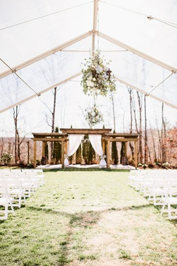 Tented event space