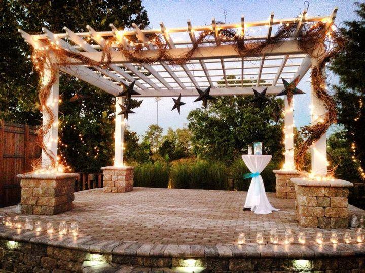 Wedding gazebo with stool bar