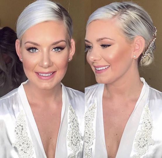 Soft look and bridal updo