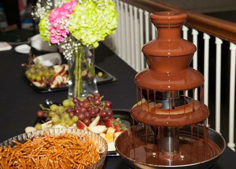 Chocolate fountaon