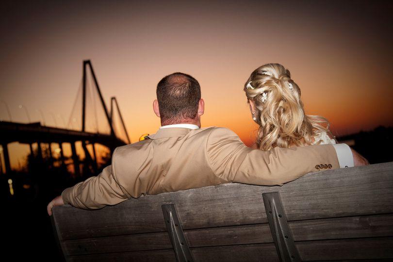 Sunset couple shot