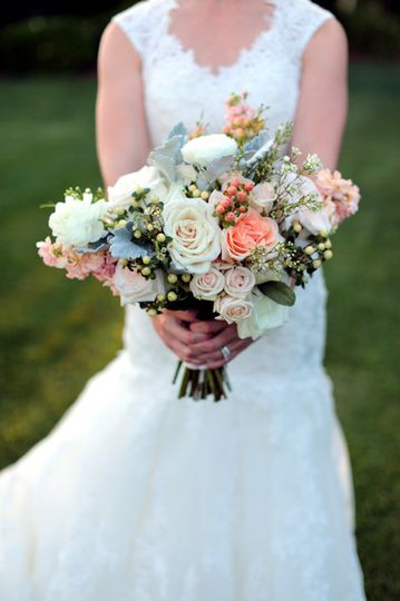 Bridal bouquet in pastel
