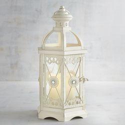 white gold lantern