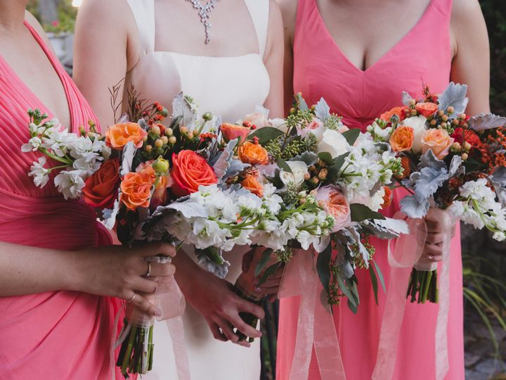 Tmx 1427229896439 Coral Bouquet Ipswich, Massachusetts wedding florist