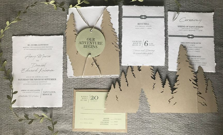 Woodland invitation suite