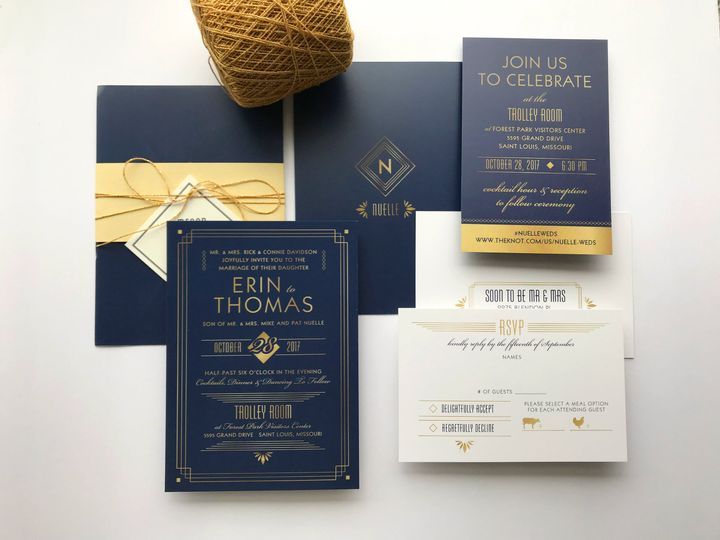 Modern Art Deco invitation