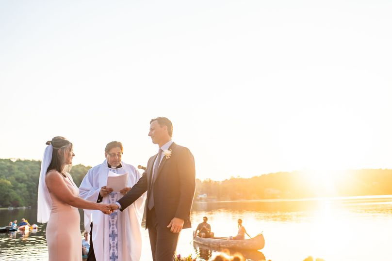 Sunset Dock Wedding Ceremony