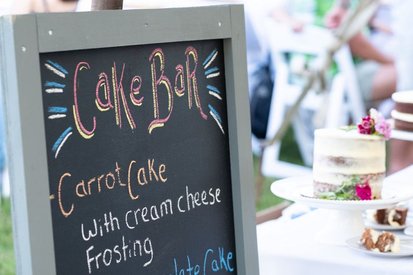 Cake Bar Handlettered Sign