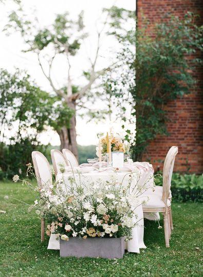 Dinner Table Flowers