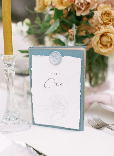 Luxe Table numbers