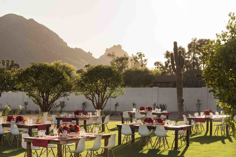 andaz scottsdale events cholla lawn dinner sunset