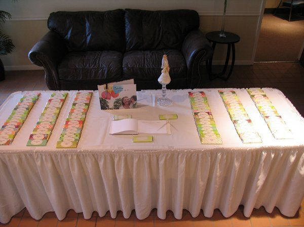 Place card/entry table