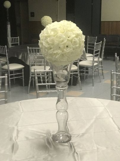 Clear Vase Centerpiece Stand