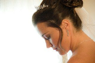 Bride's side profile