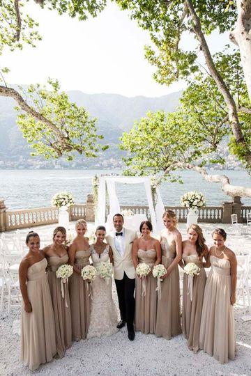 American Wedding in Lake Como  - Casta Diva Resort