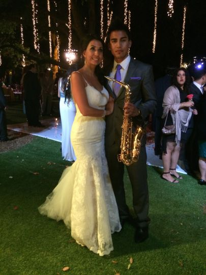 Bride and  Amin Baghallian - Saxophonist