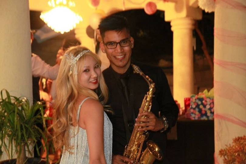 Bride withAmin Baghallian - Saxophonist