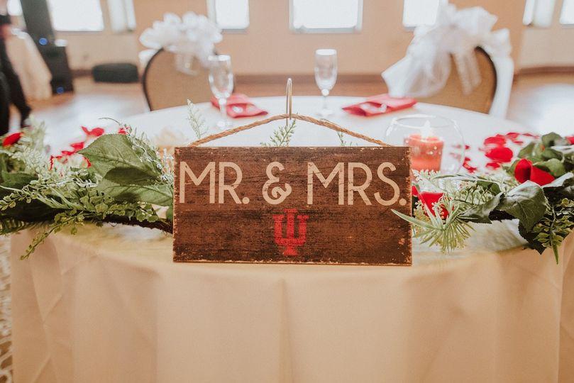 IU Mr. & Mrs. sign