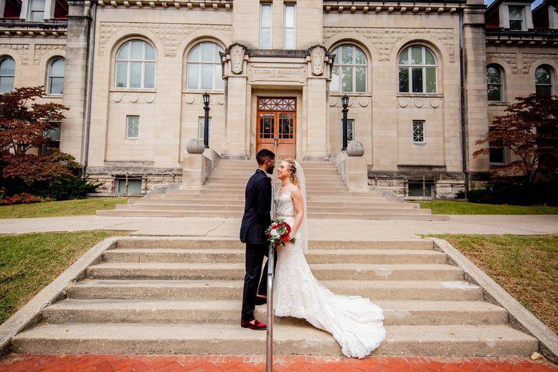 IU bride and groom