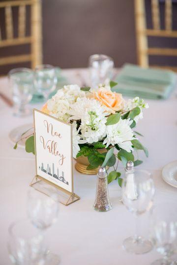 Package floral centerpiece