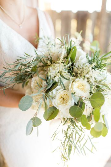 White and leafy bouquet