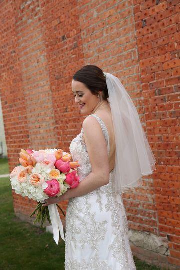 sweet looking bride