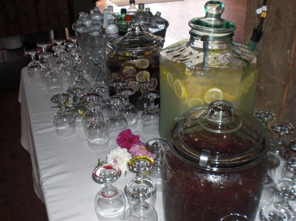 Sparkly Non-Alcoholic Set-Up by Carte Blanche Caterers