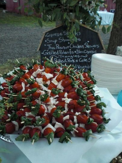 Caprese Skewer Appetizers by Carte Blanche Caterers