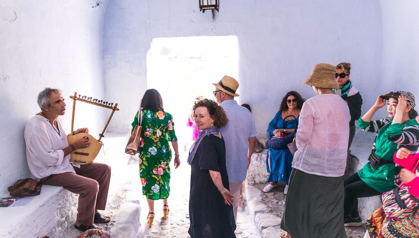 B & Matt in Santorini Greece