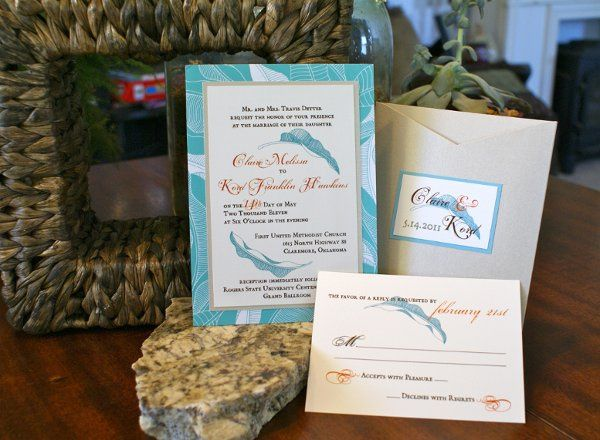 Beach Themed Pocket Invitation