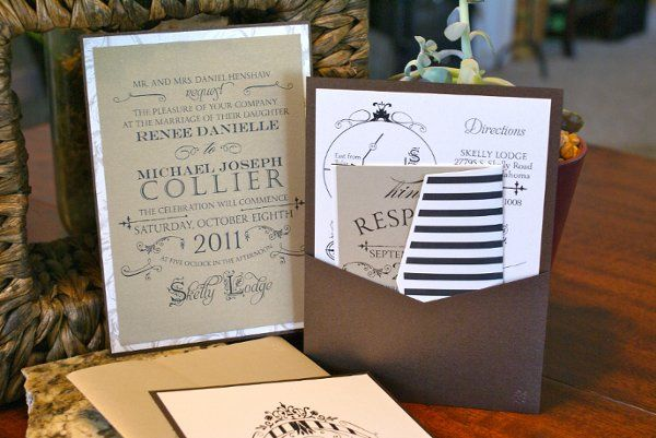 Rustic Pocket Invitation