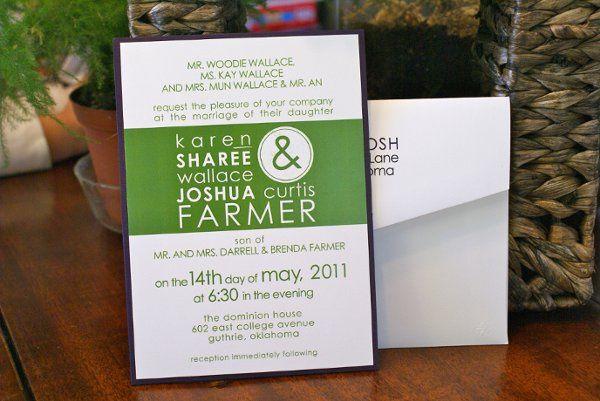Tmx 1331954296076 DSC08647 Tulsa wedding invitation