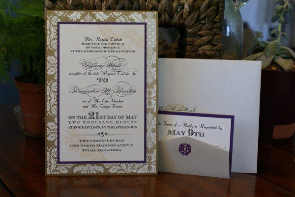 Tmx 1331954387890 DSC08630 Tulsa wedding invitation