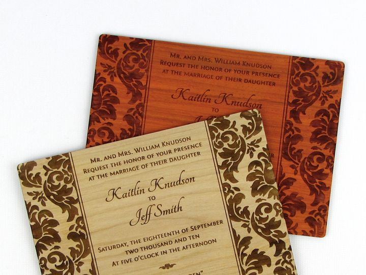 Tmx 1435861082586 Elegant Damask Invitation 4 Spokane, WA wedding invitation