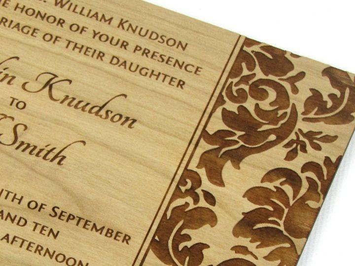 Tmx 1435861091005 Elegant Damask Invitation Cherry 3 Spokane, WA wedding invitation