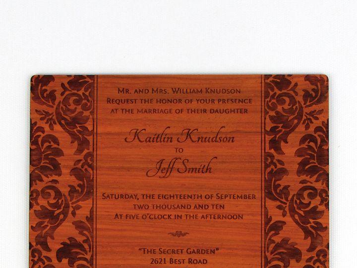 Tmx 1435861099422 Elegant Damask Invitation Padauk 3 Spokane, WA wedding invitation