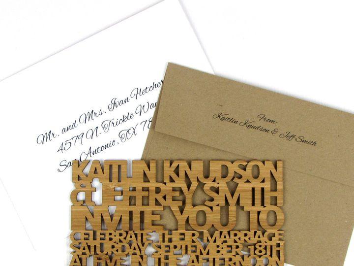 Tmx 1435861112605 Freecut Sanserif Bamboo Extra Thick Invitation 1 Spokane, WA wedding invitation