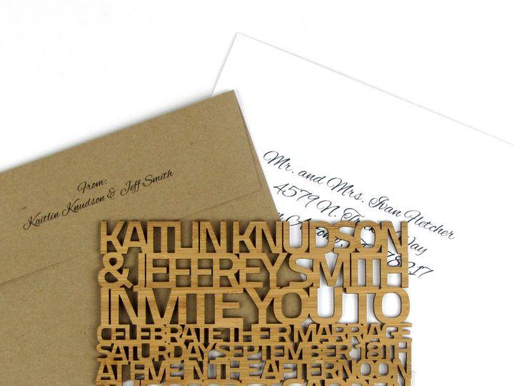 Tmx 1435861118477 Freecut Sanserif Bamboo Heavy Invitation 1 Spokane, WA wedding invitation