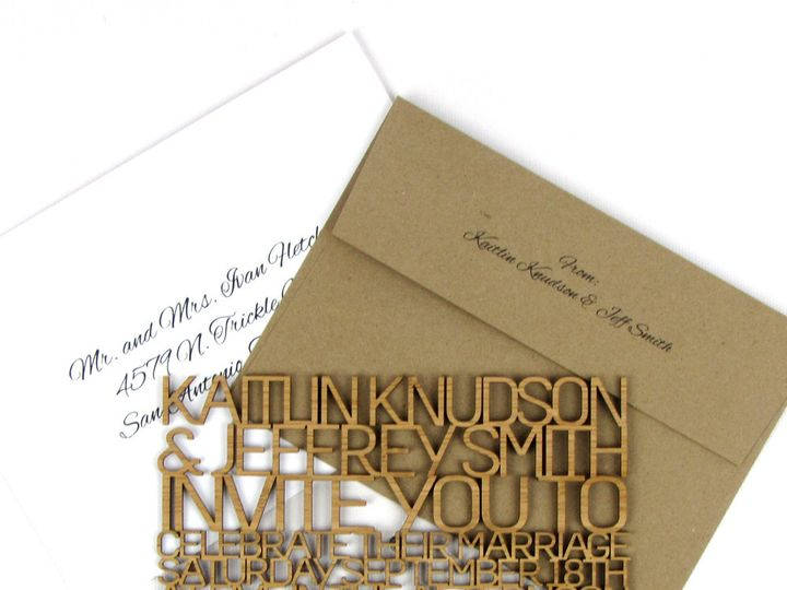 Tmx 1435861126891 Freecut Sanserif Bamboo Thin Invitation 1 Spokane, WA wedding invitation