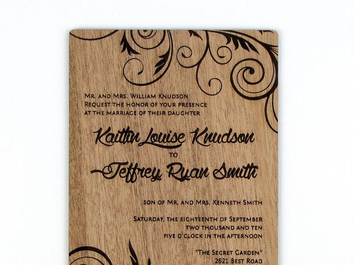 Tmx 1435887730291 Embellished Vines Invitation Mahogany 1 Spokane, WA wedding invitation