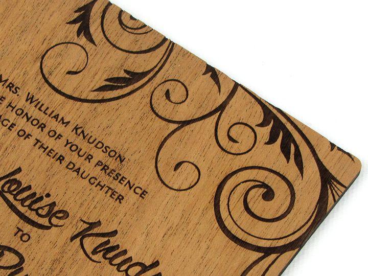 Tmx 1435887735527 Embellished Vines Invitation Mahogany 5 Spokane, WA wedding invitation