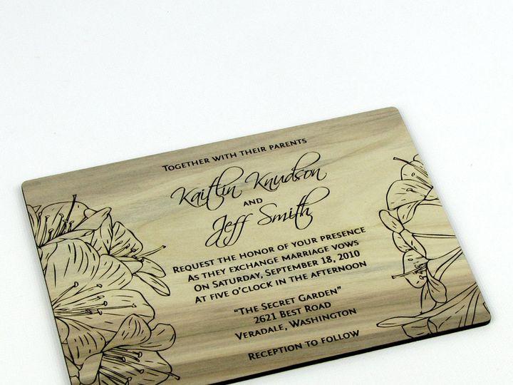Tmx 1435887750666 Wooden Invitation Red Gum 1 Spokane, WA wedding invitation